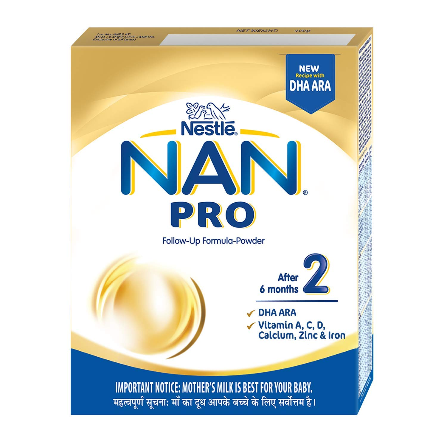Nestle Nan Pro 2 Follow-Up Formula-Powder - After 6 months, Stag