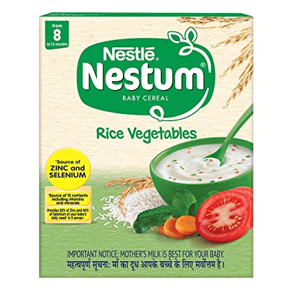 Nestle Nestum Fortified Baby Cereal - Rice Vegetables Stage-2 (8