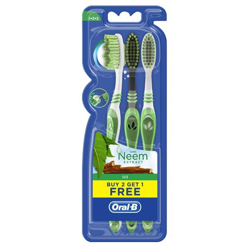 Oral B Neem Extract Toothbrush (2+1) 42 gm
