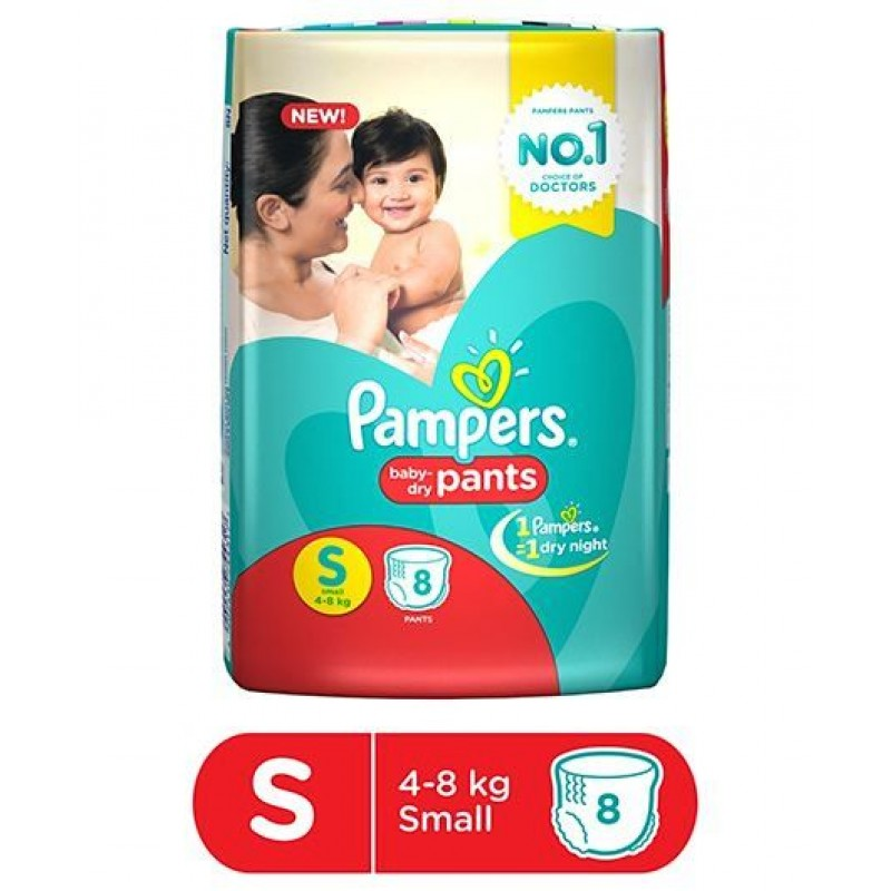 Pampers New Small- 8 Diaper Pants