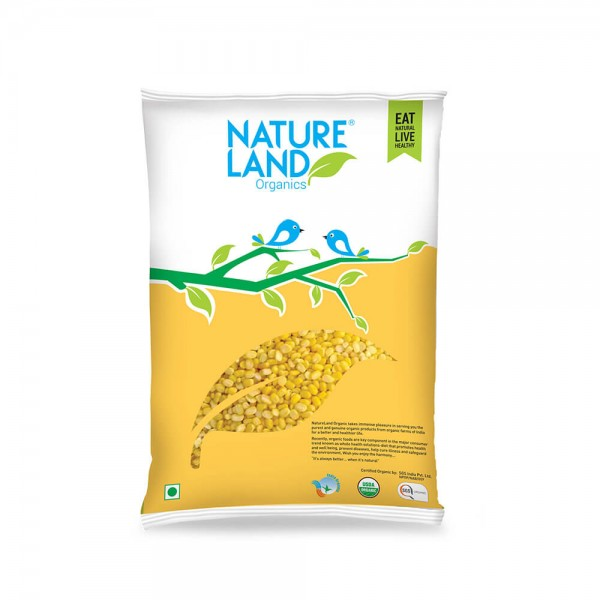 Nature Land Organics Moong Dal Yellow/ Split Washed Pouch 500 Gm