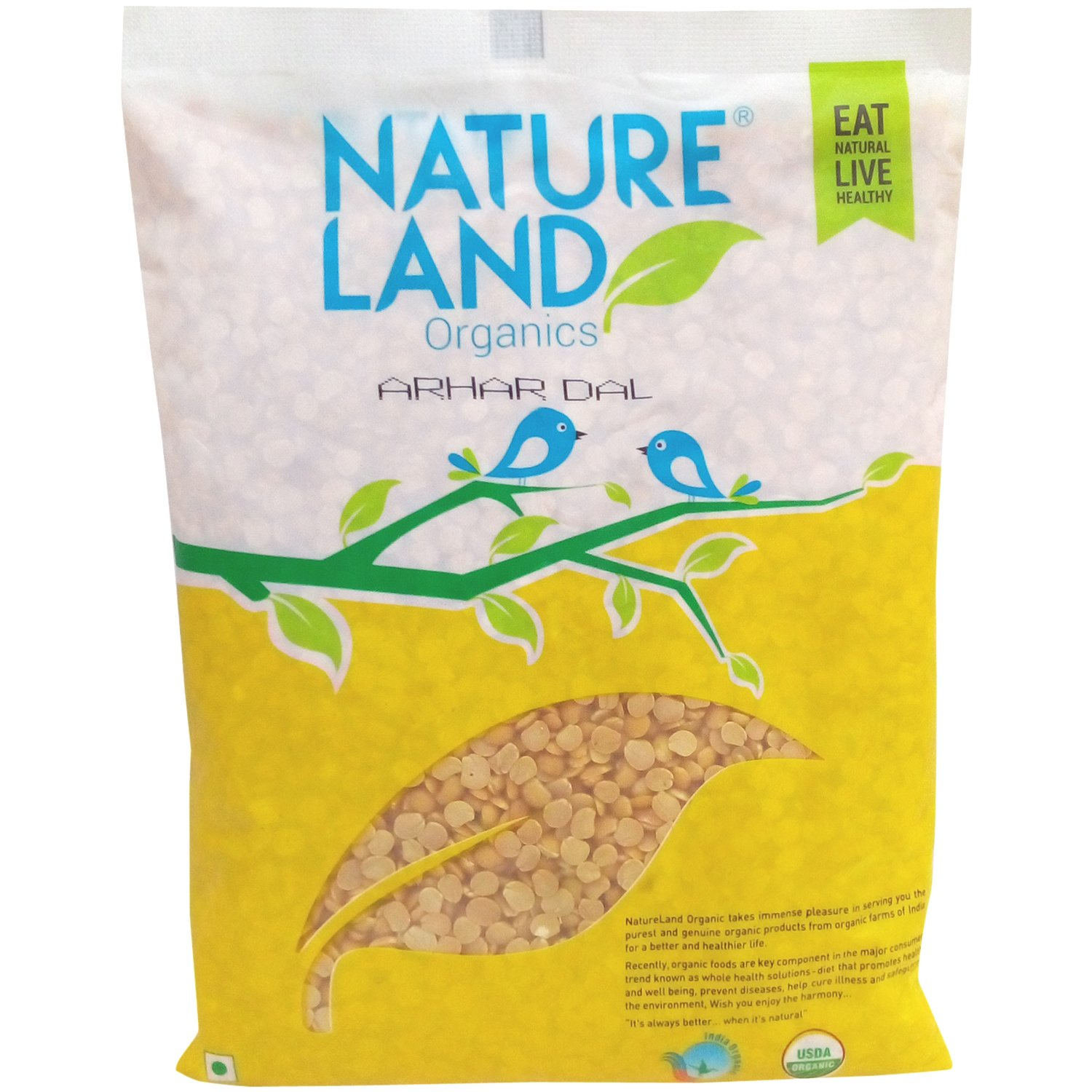 Nature Land Organics Arhar Dal 500 gm
