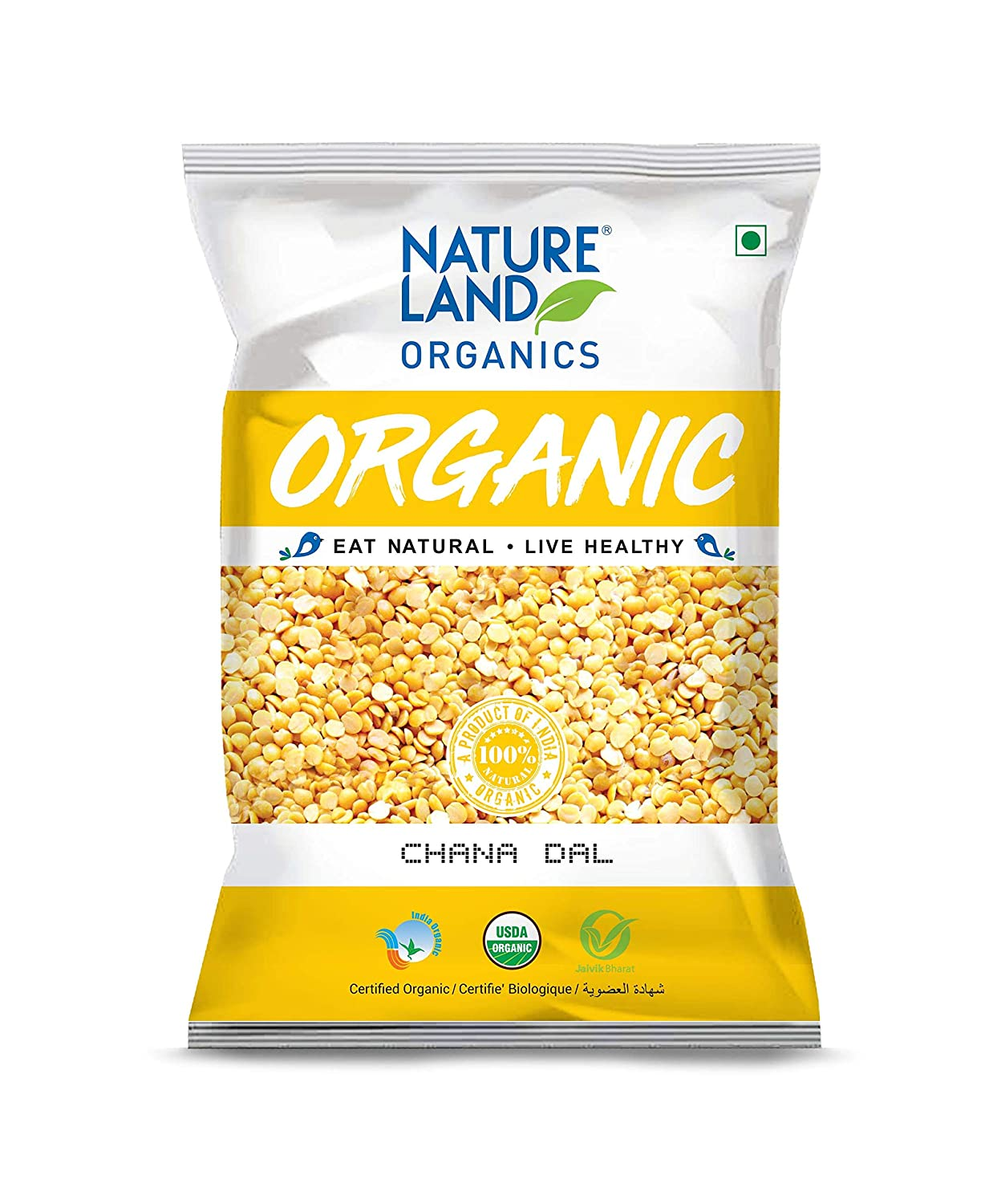 Nature Land Organics Chana Dal 500 gm