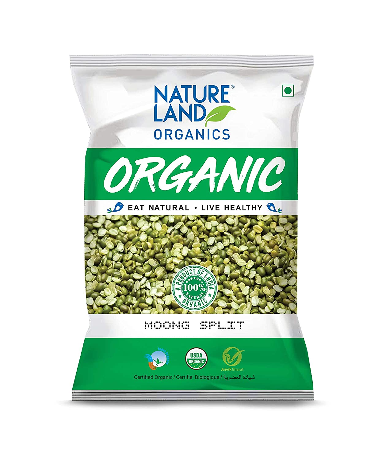 Nature Land Organics Moong Split 500 gm