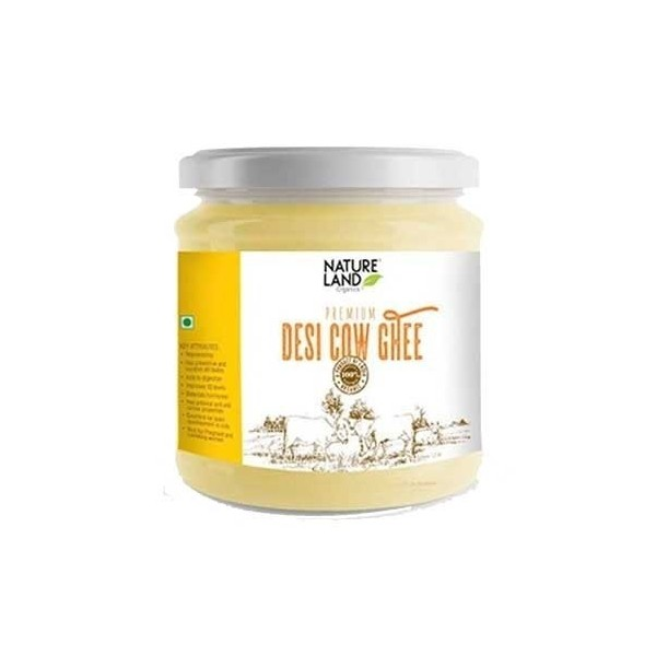 Nature Land Organics Pure Cow Ghee  400 ml