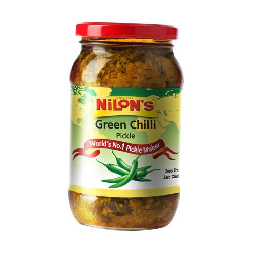 Nilon's Premium Green Chilli Pickle 400 gm