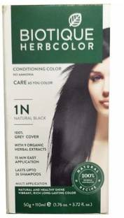 Biotique Bio Herbcolor 1N Natural Black, 50 g + 110 ml