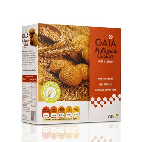 Gaia Multigrain Cookies 200 gm