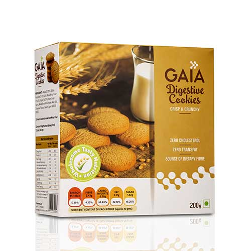 Gaia Digestive Wholesome Cookies 200 gm