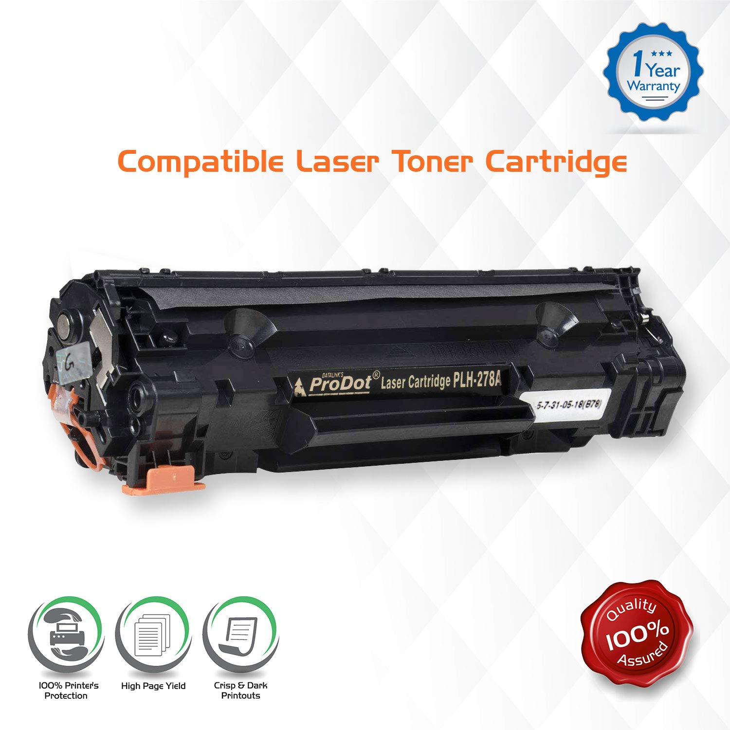 ProDot PLH-278A Compatible Laser Manufactured Toner Cartridge