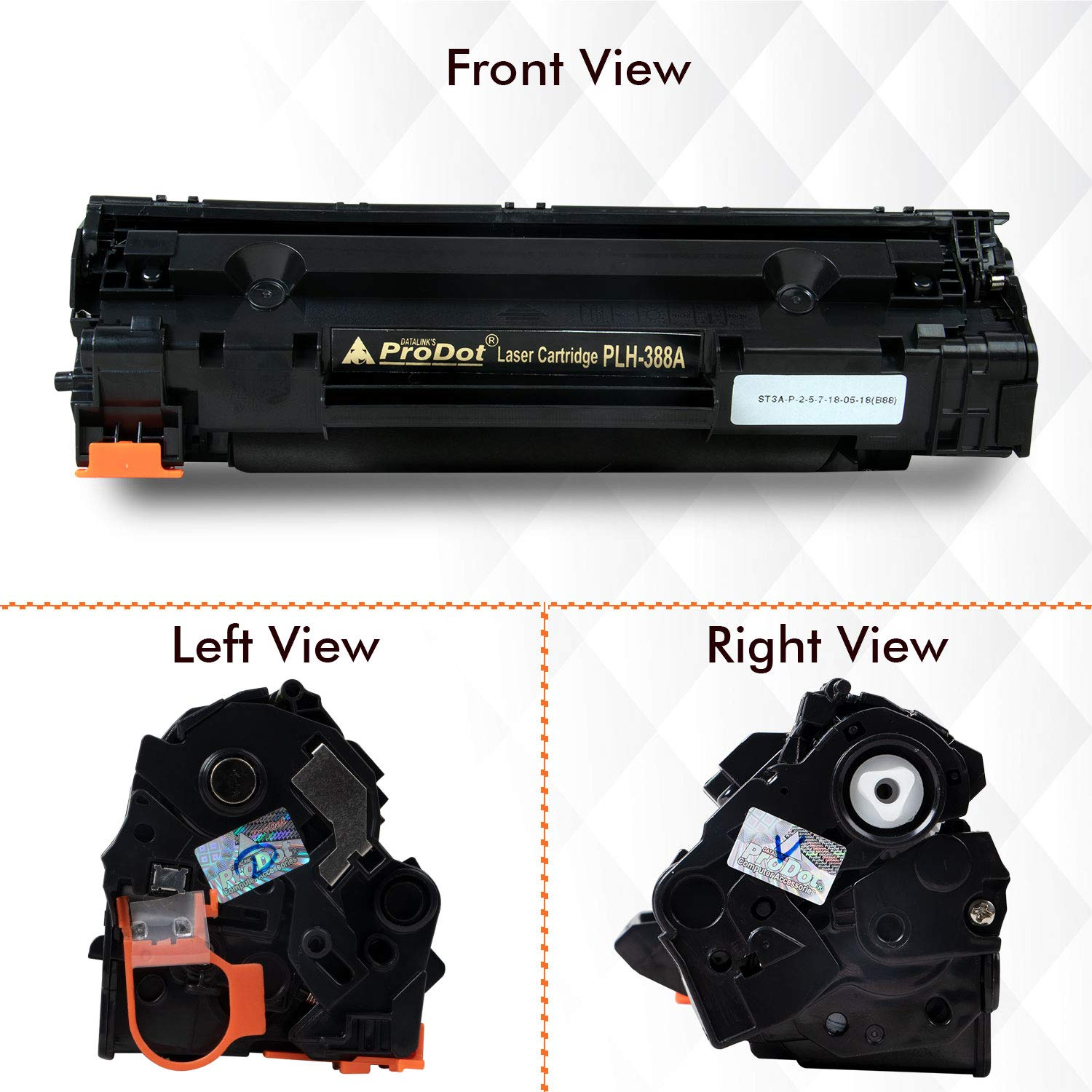 ProDot PLH-388A Compatible Laser Printer Toner Cartridge for HP
