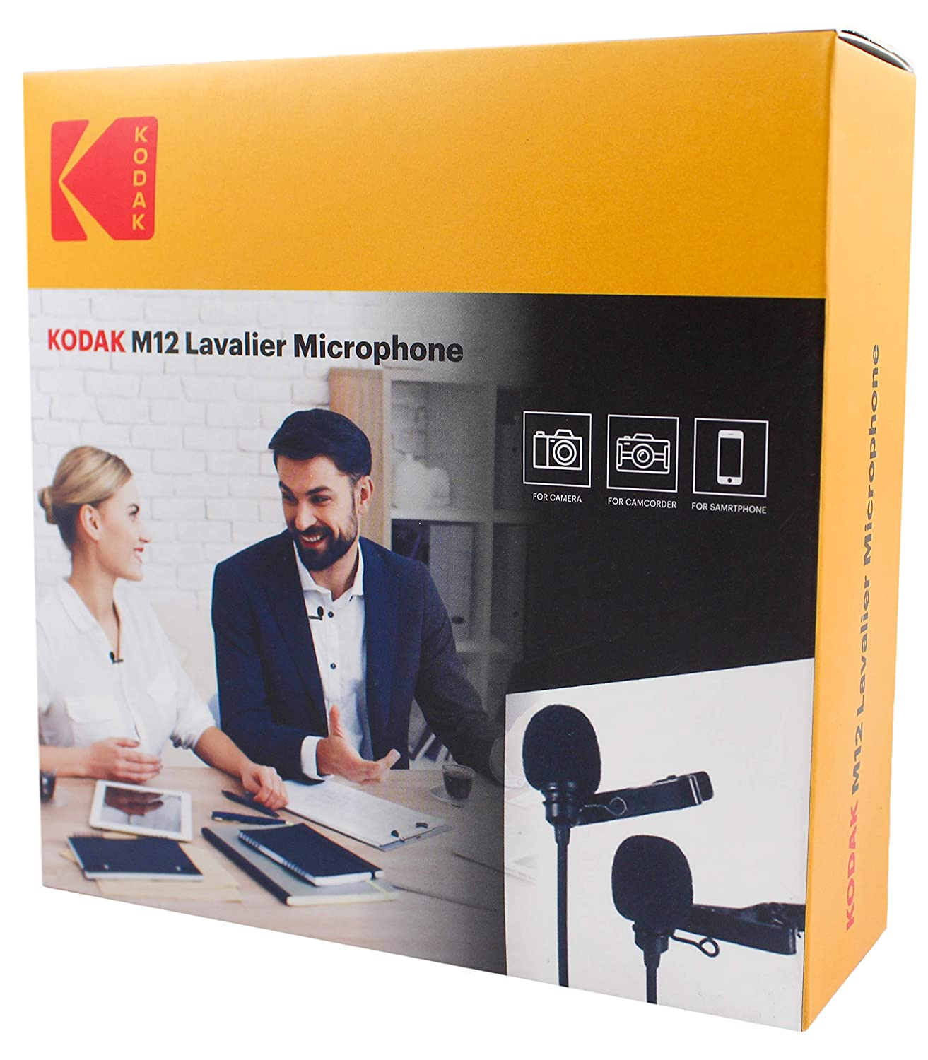 KODAK M12 2.5mm Dual Lavalier Microphone with Adapter for Smartp