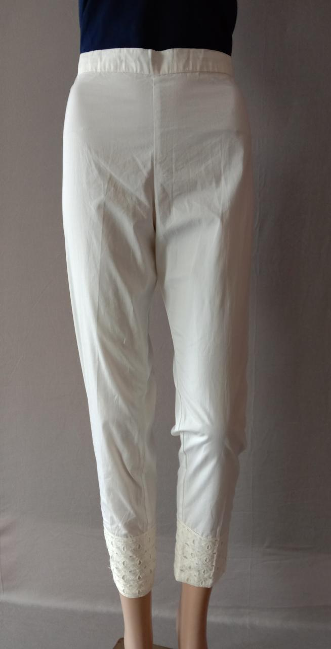 Slim Fit Cropped Regular Trousers